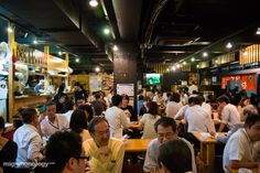 Izakaya's in Osaka can be small and intimate, with only bar counter seating, or they can be big and rowdy and loud.