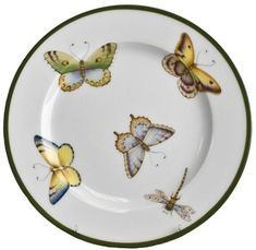 Butterfly Floral Salad Plate