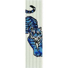 Blue Tiger - beading cuff bracelet pattern for peyote or loom (Buy 2 Patterns - 3rd. FREE) - pdf. $4.00, via Etsy.