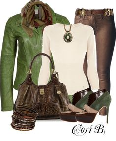 """Olive Bronze"" by cori-black on Polyvore"