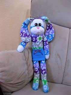 Elliot - 2 Pets Available-sock pets, sock animals, sock monkey, sock kitty, sock bunny, sock horse, sock cow, socks, gifts stuffed animal, c...