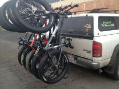 Softride - Hitch Mounted Bike Rack - Hangs Bikes Vertically from Handle Bars with No Frame, Fork, Cable or Hydraulic Line Contact. Hitch Mount Bike Rack, Bike Hitch, Truck Bike Rack, Metal Fab, Fat Bike, Mini Bike, Mountain Biking, Cycling, Bicycle