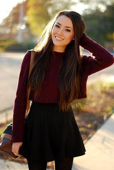 Carol Ri  Vodpod: Burgundy Crop Sweater #Lockerz