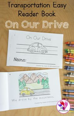 Transportation Easy Reader Book: On Our Drive - a fun 8 page book with different landscapes for kids to learn about - 3Dinosaurs.com #easyreaderbook #freeprintable #3dinosaurs #transportationforkids #kindergarten #firstgrade Transportation For Kids, Easy Reader, Hands On Learning, First Grade, Books, Libros, Book, Book Illustrations, Key Stage 1