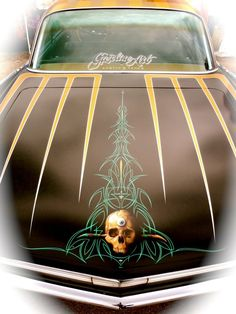 That's some bad ass pinstriping!..Brought to you by House of Insurance Eugene, Oregon 97401 Your home for car Insurance in Or.
