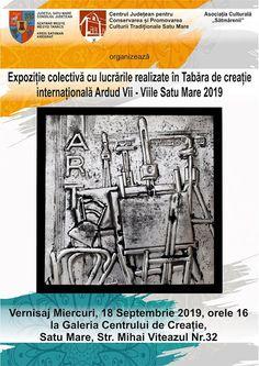 Expozitie colectiva cu lucrari realizate in tabara de creatie internationala Ardud Vii-Viile Satu Mare 2019