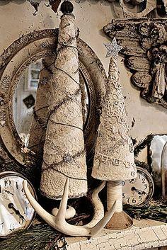 Albero di Natale vintage Lace di Rebeccavintageliving su Etsy