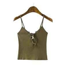 Amazon.com: AIMTOPPY Women Knitted Crop Tops Casual Cotton Tank Tops (S, Gray): Home & Kitchen