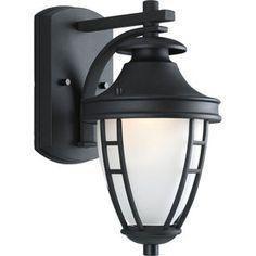 Progress Lighting Fairview 11.75-in H Textured Black Outdoor Wall Light