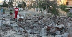 صواريخ روسية وسورية تقصف حلب وتدمر مستشفى - سكاي نيوز عربية