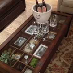 Pottery Barn Coffee Table Shadow Box Cool Tables Books