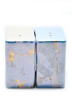 #Marbled #salt + #pepper shakers by Alison Brent | #TV Dinner: Dr. Who