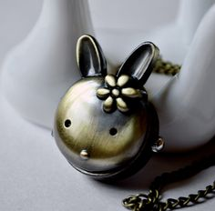 New cartoon American rabbit Pocket Watch necklace vintage jewelry wholesale Korean version sweater chain in Europe and the original single-wall charts