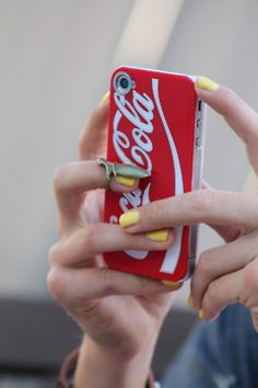Coca Cola iPhone Case. Mine would have to be diet coke though