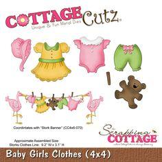 CottageCutz Baby Girls Clothes (4x4)