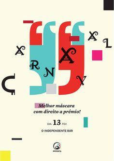 carnaval poster by gilberto ribeiro