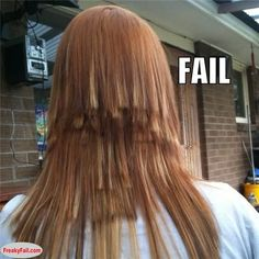 OMG !!!! Fail whoever did this should never cut hair again !
