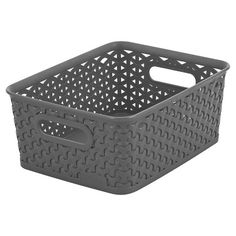 Y Weave Small Storage Bin - Grey - Room Essentials™ : Target