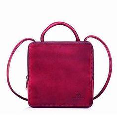 7ed5d677ed64 Genuine Leather handbag vintage handmade cube shoulder bag crossbody bag  purse for women