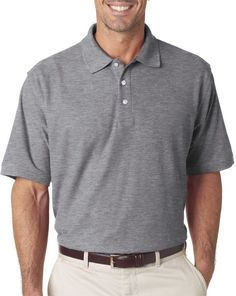 Arnold Palmer Men's Saunders Golf Polo, Gray #golfpolo | Golf Polo |  Pinterest