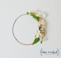Flower Crown, Spring Flower Crown, Silk Flower Crown, Boho Flower Crown, Dogwood, Blossoms, Pink Flower Crown, Simple Flower Crown, Custom by blueorchidcreations on Etsy