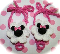 Minnie Mouse Baby Barefoot Sandals 012 months Hot by tweetotshop.