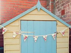 Handmade luxury retro cream and jam floral bunting garland - Welcome to Personal Space Interiors - the home of fabulous handmade vintage, retro and contemporary cushions, curtains and accessories Fabric Bunting, Bunting Garland, Contemporary Cushions, Space Interiors, Retro Floral, Home Furnishings, Shed, Outdoor Structures, Personal Space