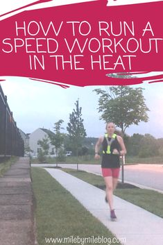 Running in the heat is definitely challenging. Speed work in the heat is especially tricky. Here are some ways to modify your workouts so that you can run a speed workout in the heat this summer. Speed Workout, Treadmill Workouts, Hard Workout, Running Workouts, Running Tips, Running Blogs, Road Running, Butt Workouts, Half Marathon Training