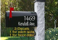 Mailbox Flag, New Mailbox, Mailbox Numbers, Mailbox Decals, Personalized Mailbox, Personalized Items, Mailbox Makeover, Silhouette Sign, Custom Mailboxes