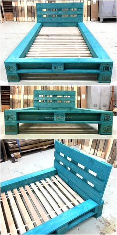 repurposed pallets bed frame