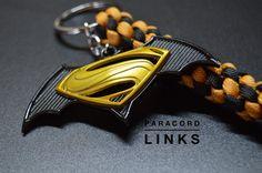 Batman vs Superman Premium Paracord keychain by ParacordLinks
