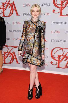Dakota Fanning wearing Proenza Schouler for  2012 #CFDA Fashion Awards