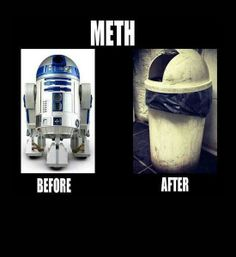 funny photos, R2D2 meth garbage can