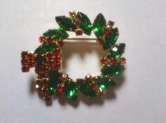 Vintage Marquise & CZ Wreath Brooch $14.99