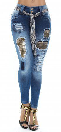 Jeans levanta cola ENE2 93333 Azul