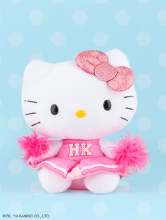 Three cheers for Hello Kitty!!! Lovely Cheerleader plush.