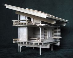 """Architectural Model as Sculpture and as Toy: """"Drawing House"""", A Small Structure for Solitary Meditation Inspired by the Japanese Tea House. $1,000.00, via Etsy."""
