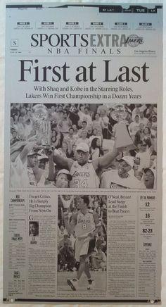 2000 NBA FINALS LOS ANGELES LAKERS CHAMPIONSHIP PRINTING PLATE #LosAngelesLakers #NBA #Shaq #LATIMES #LakerNation #PrintingPlate #PressPlate