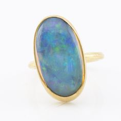 Degas opal and 22k gold ring