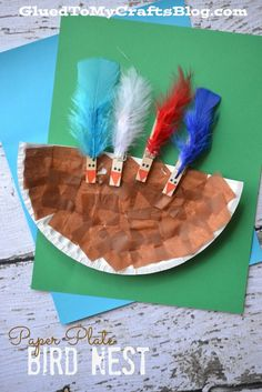 Paper Plate Bird Nest - Kid Craft
