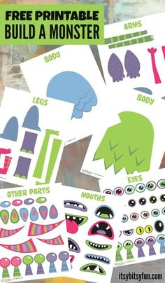 Build a Monster Free Printable Activity for Kids