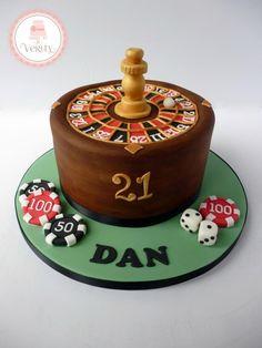 Roulette wheel cake …