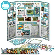 New York JUMBO Poster Pack | Printable $3.95. Printable pack of decorations for New York state reports. Make your 5th grade state reports look great! Spend time researching your project instead of standing in line at the craft store. To the library!