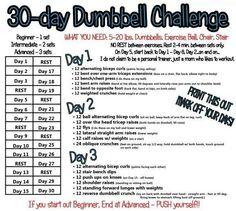30 day dumbbell challenge