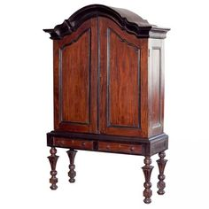 Exceptionally rare Indo-Dutch cabinet made of solid satinwood with ebony trim and inlay.