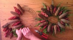 Alternate sumac and pinecones for a unique wreath - John Forti