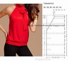 BLOUSE EASY TO DO IN THREE SIZES ~ Molds Fashion for Measure