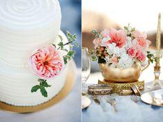 peach gold inspired cake flowers peach gold inspired wedding centerpieces utah flowers calie rose www.calierose.com
