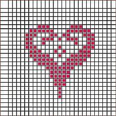 Cross Stitch Numbers, Cross Stitch Heart, Cross Stitch Borders, Cross Stitch Patterns, Crochet Chart, Knit Or Crochet, Filet Crochet, Knitting Charts, Knitting Patterns