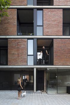 apartment architecture Prefabricated modules form brick facade of Buenos Aires apartment block - Domus Brick Architecture, Concept Architecture, Residential Architecture, Chinese Architecture, Architecture Office, Futuristic Architecture, Building Facade, Building Design, House Building